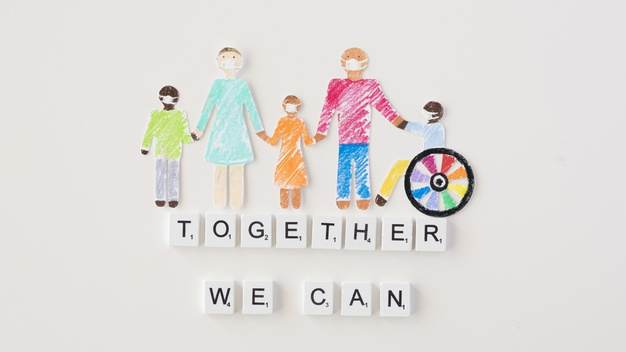 together-we-can-help-concept_23-2148733264